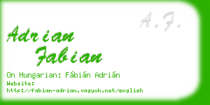 adrian fabian business card